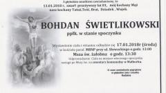 Zmarł Bohdan Świetlikowski. Żył 81 lat.