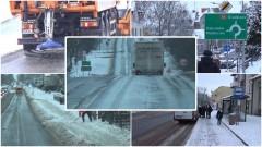 Sztum: Atak zimy. Od godz. 4.00 drogowcy walczą z opadami śniegu – 17.01.2018