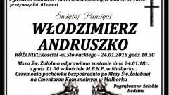 Zmarł Włodzimierz Andruszko. Żył 61 lat.