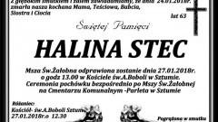 Zmarła Halina Stec. Żyła 63 lat.