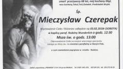Zmarł Mieczysław Czerepak. Żył 88 lat.