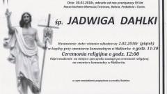 Zmarła Jadwiga Dahlki. Żyła 94 lata.