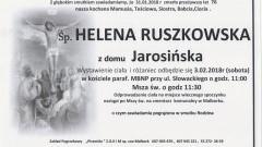 Zmarła Helena Ruszkowska. Żyła 76 lat.