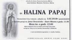 Zmarła Halina Papaj. Żyła 86 lat.