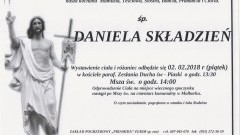 Zmarła Daniela Składzień. Żyła 87 lat.