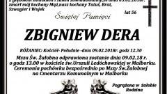 Zmarł Zbigniew Dera. Żył 56 lat.