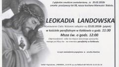 Zmarła Leokadia Landowska. Żyła 98 lat.