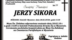 Zmarł Jerzy Sikora. Żył 77 lat