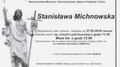 Zmarła Stanisława Michnowska. żyła 79 lat.