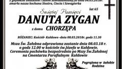 Zmarła Danuta Zygan. Żyła 65 lat.