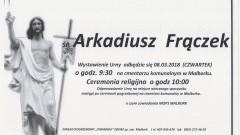 Zmarł Arkadiusz Frączek. Żył 46 lat.