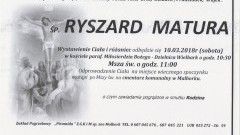 Zmarł Ryszard Matura. Żył 76 lat.