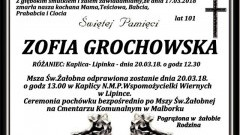 Zmarła Zofia Grochowska. Żyła 101 lat.