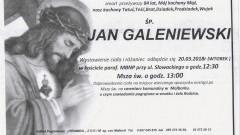 Zmarł Jan Galeniewski. Żył 84 lata