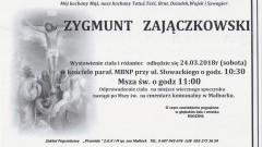 Zmarł Zygmunt Zajączkowski. Żył 78 lat