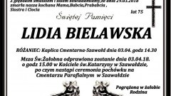 Zmarła Lidia Bielawska. Żyła 75 lat.