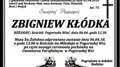 Zmarł Zbigniew Kłódka. Żył 75 lat.