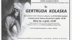 Zmarła Gertruda Kolaska. Żyła 96 lat.