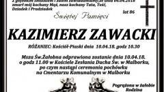 Zmarł Kazimierz Zawacki. Żył 86 lat.