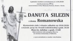 Zmarła Danuta Silezin. Żyła 59 lat.