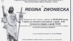 Zmarła Regina Zwoniecka. Żyła 73 lata