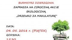 """Burmistrz Dzierzgonia zaprasza na akcję """"Drzewko za makulaturę"""""""