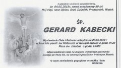 Zmarł Gerard Kabecki. Żył 89 lat.