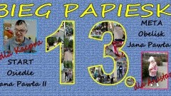 Zapraszamy do udziału XIII dzierzgońskim Biegu Papieskim!