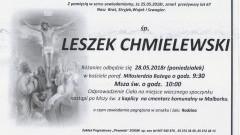 Zmarł Leszek Chmielewski. Żył 67 lat.