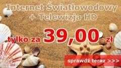 Telewizja HD + Internet światłowodowy już od 39 zł