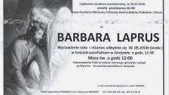 Zmarła Barbara Laprus. Żyła 84 lata.