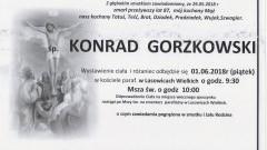 Zmarł Konrad Gorzkowski. Żył 87 lat.
