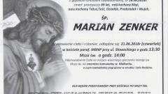 Zmarł Marian Zenker. Żył 89 lat.