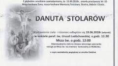 Zmarła Danuta Stolarów. Żyła 63 lata