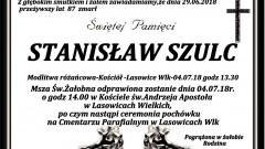 Zmarł Stanisław Szulc. Żył 87 lat