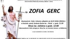 Zmarła Zofia Gerc. Żyła 84 lata.