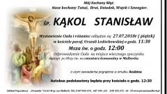 Zmarł Stanisław Kąkol. Żył 66 lat.