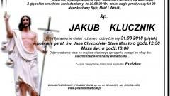 Zmarł Jakub Klucznik. Żył 22 lata.