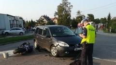 Wypadek z udziałem motocyklisty w Nowym Dworze Gdańskim. 29- latek przetransportowany helikopterem do szpitala.