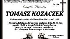 Zmarł Tomasz Kozaczek. Żył 64 lata.