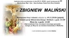 Zmarł Zbigniew Maliński. Żył 59 lat.