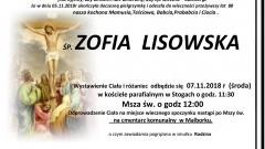 Zmarła Zofia Lisowska. Żyła 88 lat.