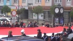 Sztum: Wyjątkowa flaga na 100. Rocznicę Niepodległości.