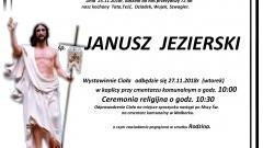Zmarł Janusz Jezierski. Żył 72 lata.