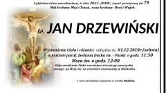 Zmarł Jan Drzewiński. Żył 79 lat.