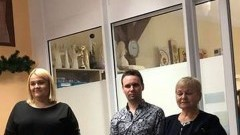 Spotkanie świąteczne uczestników i pracowników Warsztatów Terapii Zajęciowej w Dzierzgoniu