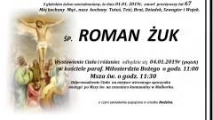 Zmarł Roman Żuk. Żył 67 lat.