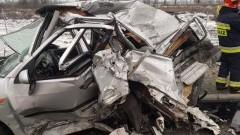 Zderzenie samochodu osobowego z ciężarówką na S7
