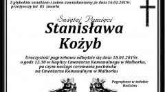 Zmarła Stanisława Kożyb. Żyła 85 lat.