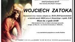 Zmarł Wojciech Zatoka. Żył 67 lat.